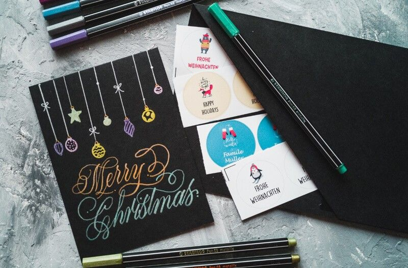 DIY Hand lettering – Create your own Christmas cards
