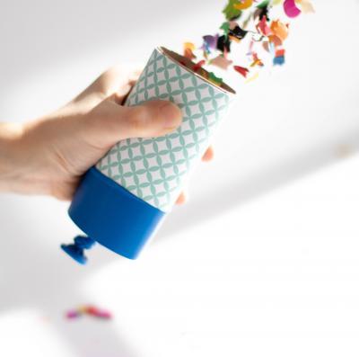 DIY confetti cannon – let's party !